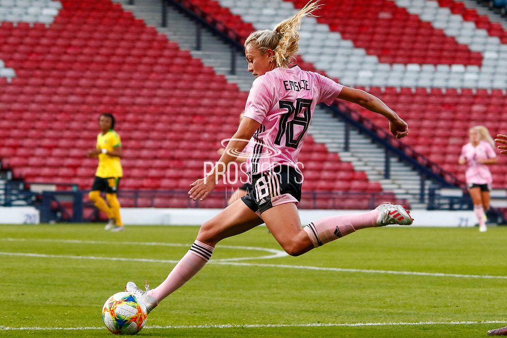 Scotlands Claire EMSLIE (Manchester City WFC (ENG)) during the International Friendly match between Scotland Women and Jamaica Women at Hampden Park, Glasgow, United Kingdom on 28 May 2019.
