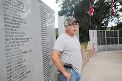 August 15, 2017 - Seffner, Florida, U.S. - Butch Fox of Tampa, who takes care of the Confederate Memorial Park grounds in Seffner says this is the worst incident that's happened here. 'We're not a racist organization,' said Fox. 'We don't condone what happened in Charlottesville.' The Confederate Memorial Park was vandalized over the weekend in response to the incident in Charlottesville, Virginia where three people died during a white-nationalist rally. (Credit Image: © Octavio Jones/Tampa Bay Times via ZUMA Wire)