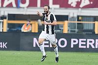 esultanza gol Gonzalo Higuain Juventus Goal celebration <br /> Torino 11-12-2016 Stadio Olimpico Grande Torino Football Calcio Serie A 2016/2017 Torino - Juventus foto Image Sport/Insidefoto