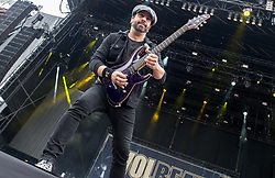 Rob Caggiano of Volbeat performs live on stage on day 1 of Download Festival at Donington Park on June 08, 2018 in Castle Donington, England. Picture date: Friday 08 June, 2018. Photo credit: Katja Ogrin/ EMPICS Entertainment.
