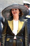 Prinsjesdag 2013 - Aankomst Parlementariërs bij de Ridderzaal op het Binnenhof.<br /> <br /> Op de foto:  Edith Schippers - Minister van Volksgezondheid, Welzijn en Sport