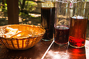 Croatian liqueur and bread, Krka National Park, Dalmatia, Croatia