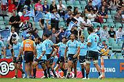 Waratahs celebrate the Adam Ashley-Cooper try. Waratahs v Force. 2013 Investec Super Rugby Season. Allianz Stadium, Sydney. Sunday 31 March 2013. Photo: Clay Cross / photosport.co.nz