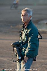 Japanese PhotographerTakao Isobe at Brat Style's flat track racing at West Point Offroad Village. Kawagoe, Saitama. Japan. Wednesday December 6, 2017. Photography ©2017 Michael Lichter.