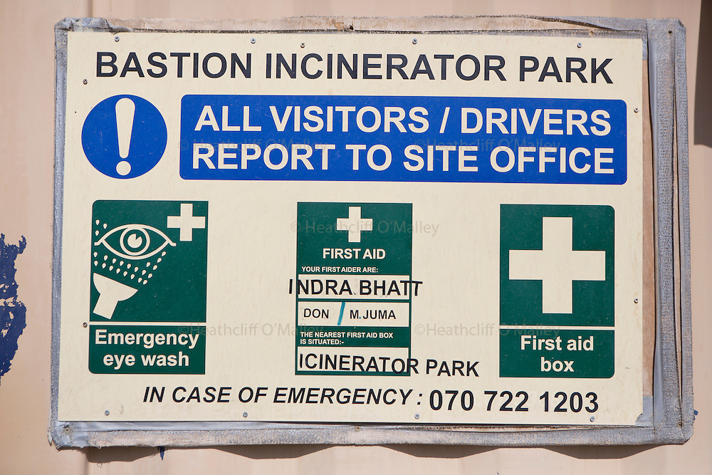 Bastion Incinerator Park<br /> <br /> Images of the KBR team working at Camp Bastion for Afghanistan Legacy Supplement .