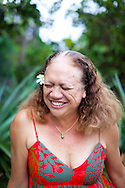 "Evaline ""Tuti"" Sanborn was born on the island of Ni'ihau and now lives on Oahu, working as a Hawaiian language teacher"