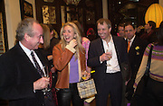 Sir Ralph Halpern and Jenny Halpern and her father. Shanghai Tang opening. Sloane St. 11 April 2001. © Copyright Photograph by Dafydd Jones 66 Stockwell Park Rd. London SW9 0DA Tel 020 7733 0108 www.dafjones.com