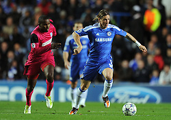 19.10.2011, Stamford Bridge Stadion, London, ENG, UEFA CL, Gruppe E, Chelsea FC (ENG) vs Racing Genk (BEL), im Bild Chelsea's Fernando Torres in action against Racing Genk's Khaleem Hyland // during UEFA Champions League group E match between Chelsea FC (ENG) and Racing Genk (BEL) at Stamford Bridge Stadium, London, United Kingdom on 19/10/2011. EXPA Pictures © 2011, PhotoCredit: EXPA/ Propaganda Photo/ Chris Brunskill +++++ ATTENTION - OUT OF ENGLAND/GBR+++++