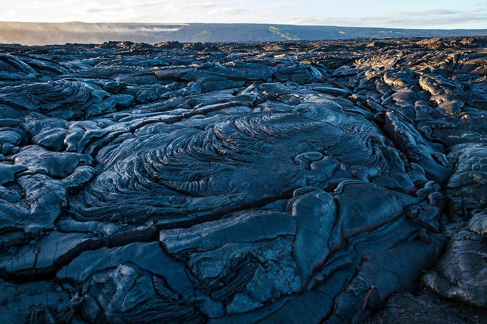 Lava flows of the Eastren rift zone, Puna, Hawaii, USA.