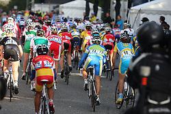 Peloton during the Women´s Junior Road Race on day five of the UCI Road World Championships on September 23, 2011 in Copenhagen, Denmark. (Photo by Marjan Kelner / Sportida Photo Agency)