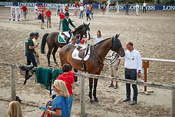 Thomas Gilles, BEL, Conaro<br /> European Championship Children, Juniors, Young Riders - Fontainebleau 1028<br /> © Hippo Foto - Dirk Caremans<br /> Thomas Gilles, BEL, Conaro