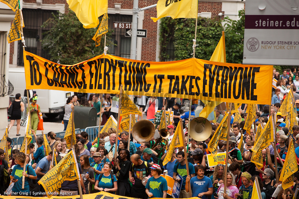 In September of 2014, 400,000 gathered in the streets of NYC. 2646 solidarity events in 162 countries. The largest climate march in history.