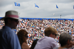 June 23, 2017 - London, United Kingdom - Fans with the iconic Panama hat are seen on the Centre Court of AEGON Championships at Queen's Club, London, on June 23, 2017. (Credit Image: © Alberto Pezzali/NurPhoto via ZUMA Press)