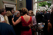 ALAN YENTOB; CAROLINE MICHEL; LADY ANTONIA PINTER, David Campbell and Knopf host the 20th Anniversary of the revival of Everyman's Library. Spencer House. St. James's Place. London. 7 July 2011. <br /> <br />  , -DO NOT ARCHIVE-© Copyright Photograph by Dafydd Jones. 248 Clapham Rd. London SW9 0PZ. Tel 0207 820 0771. www.dafjones.com.