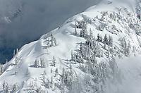 Snow covered ridge Mount Baker Wilderness Washington USA