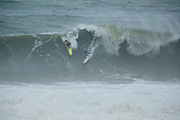 Tom Lowe (GBR) advanced to Semifinal after winning Round One Heat 4 while Antonio silva finished 5th in Round One Heat 4 of the 2018 Nazaré Challenge at Nazaré, Leiria, Portugal. . FOR EDITORIAL NEWS USE ONLY