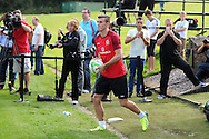 Gareth Bale during the Wales football team training session at the Vale , Hensol near Cardiff,  South Wales on Tuesday 3rd Sept 2013, the team are training ahead of their next FIFA World cup qualifier. pic by Andrew Orchard,  Andrew Orchard sports photography,