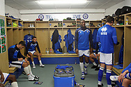 Rochdale players preparing pre-match during the EFL Sky Bet League 1 match between Rochdale and Gillingham at Spotland, Rochdale, England on 23 September 2017. Photo by Daniel Youngs.