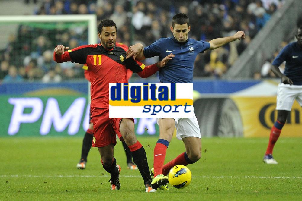 FOOTBALL - INTERNATIONAL FRIENDLY GAMES 2011/2012 - FRANCE v BELGIUM - 15/11/2011 - PHOTO JEAN MARIE HERVIO / DPPI - MOUSSA DEMBELE (BEL) / MAXIME GONALONS (FRA)