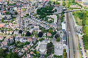 Nederland, Drenthe, Meppel, 27-08-2013;<br /> Station en centrum van Meppel. <br /> Railway station en center of the city of Meppel. (Northern Netherlands)<br /> luchtfoto (toeslag op standaard tarieven);<br /> aerial photo (additional fee required);<br /> copyright foto/photo Siebe Swart.
