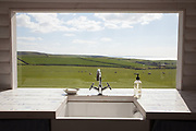 The guest laundry room with a view, Pickwell Manor, Georgeham, North Devon, UK. CREDIT: Vanessa Berberian for The Wall Street Journal<br /> HOUSESHARE