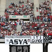 Besiktas's supporters during their Turkish Superleague soccer match IBBSK between Besiktas at the Ataturk Olympic stadium in Istanbul Turkey on Sunday 19 August 2012. Photo by TURKPIX