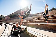 Red Bull Flying Bach dancers perform at Red Rocks Amphitheatre in Denver, CO, USA, on 21 October, 2016.