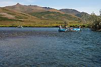 Float fishing the Kanektok River..Shot in Alaska, USA