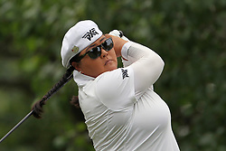 July 14, 2018 - Sylvania, Ohio, United States - Christina Kim of San Jose, California hits from the 3rd tee during the third round of the Marathon LPGA Classic golf tournament at Highland Meadows Golf Club in Sylvania, Ohio USA, on Saturday, July 14, 2018. (Credit Image: © Amy Lemus/NurPhoto via ZUMA Press)
