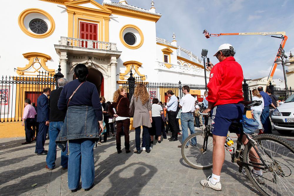 Abril, 19, 2010. Lifestyle/Spain. Seville April Fair. Bullfighting in La Real Maestranza of Seville.