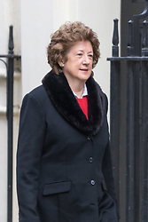 Downing Street, London, March 8th 2016. Minister of State for Foreign and Commonwealth Affairs Baroness Joyce Anelay arrives for the weekly UK cabinet meeting at Downing Street. ©Paul Davey<br /> FOR LICENCING CONTACT: Paul Davey +44 (0) 7966 016 296 paul@pauldaveycreative.co.uk