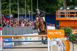 RIESKAMP-GOEDEKING Tim (GER), Chico Bonito<br /> Münster - Turnier der Sieger 2019<br /> BRINKHOFF'S NO. 1 -  Preis<br /> CSI4* - Int. Jumping competition  (1.50 m) -<br /> 1. Qualifikation Grosse Tour <br /> Large Tour<br /> 02. August 2019<br /> © www.sportfotos-lafrentz.de/Stefan Lafrentz