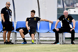 June 16, 2018 - Sochi, RUSSIA - KBVB-URBSFA vice-chairman Bart Verhaeghe, Belgium's Thomas Meunier and KBVB-URBSFA sports director Chris Van Puyvelde pictured during a training session of Belgian national soccer team the Red Devils in Sochi, Russia, Saturday 16 June 2018. The team is preparing for their first game at the FIFA World Cup 2018 next Monday. BELGA PHOTO DIRK WAEM (Credit Image: © Dirk Waem/Belga via ZUMA Press)
