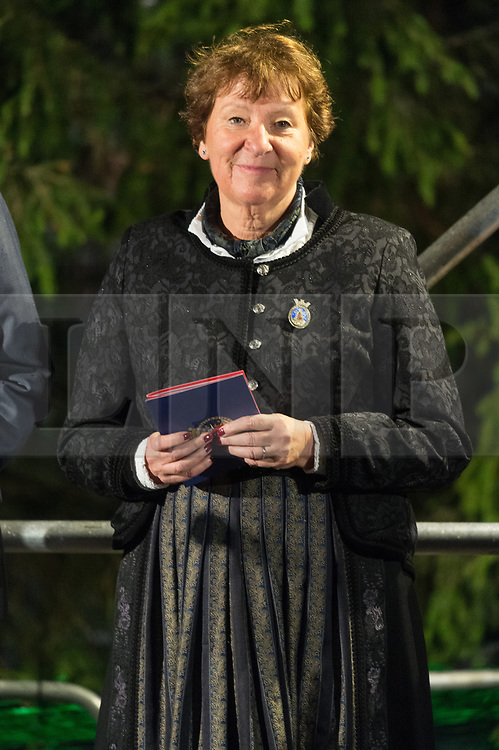 © Licensed to London News Pictures. 06/12/2018. London, UK.  The Mayor of Oslo, Marianne Borgen attends the Trafalgar Square Christmas tree lighting ceremony. Every year, since 1947, the people of Norway have given the people of London a Christmas tree. This gift is in gratitude for Britain's support for Norway during World War II. Photo credit: Ray Tang/LNP