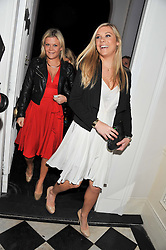 Left to right, OLIVIA 'Bubble' PERRY and CHELSEY DAVY at a reception hosted by Beulah London and the United Nations to launch Beulah London's AW'11 Collection 'Clothed in Love' and the Beulah Blue Heart Campaign held at Dorsia, 3 Cromwell Road, London SW7 on 18th October 2011.