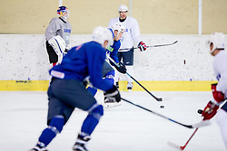 Zan Jezovsek during practice session of Slovenian Ice Hockey National Team at training camp, on February 8th, 2016 in Ledna dvorana, Bled, Slovenia. Photo by Vid Ponikvar / Sportida