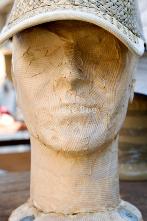 packing paper plastered mannequin head