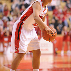 Feb 21, 2009; Piscataway, NJ, USA; Rutgers guard Nikki Speed (11) looks for an open pass during the second half of Rutgers' 55-42 victory over Providence at the Louis Brown Athletic Center.