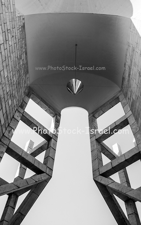Abstract Architecture in black and white. Photographed at the Israel Museum of Art, Tel Aviv