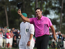 April 8, 2018 - Augusta, GA, USA - Patrick Reed acknowledges the crowd after he won the the Masters at Augusta National Golf Club on Sunday, April 8, 2018, in Augusta, Ga. (Credit Image: © Jason Getz/TNS via ZUMA Wire)