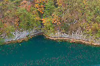 Milanovac lake, Lower Lakes, in autumn, Plitvice National Park, Croatia