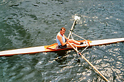 Henley. England, 1989 Henley Royal Regatta, River Thames, Henley Reach,  [© Peter Spurrier/Intersport Images],  Stuart [Sam] MACKENZIE,