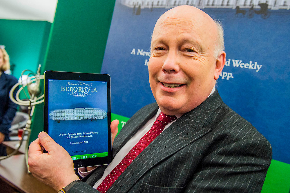 Lord Julian Fellowes launches his new app Belgravia -  a book published chapter by chapter in the app. The London Book Fair, celebrating its 45 year anniversary, is the global marketplace for rights negotiation and the sale and distribution of content across print, audio, TV, film and digital channels. Staged annually, LBF sees more than 25,000 publishing professionals arrive in London for the week of the show to learn, network and kick off their year of business. The London Book Fair sits at the heart of London Book & Screen Week, and runs from the 12-14 April 2016.
