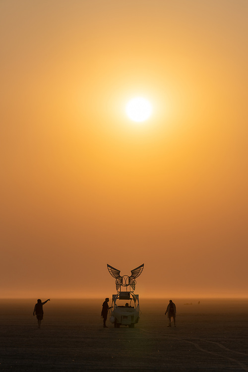 The Sun Rises Deep Playa - https://Duncan.co/Burning-Man-2021