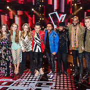 NLD/Hilversum/20170120 - 2de liveshow The Voice of Holland 2017, groepsfoto