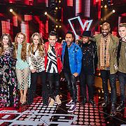 NLD/Hilversum/20170120 - 2de liveshow The Voice of Holland 2017, groepsfoto