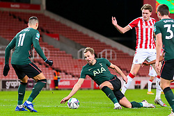 Harry Kane of Tottenham Hotspur tumbles on the edge of Stoke's penalty box - Mandatory by-line: Nick Browning/JMP - 23/12/2020 - FOOTBALL - Bet365 Stadium - Stoke-on-Trent, England - Stoke City v Tottenham Hotspur - Carabao Cup