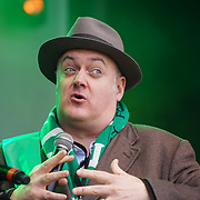 Dara O'Briain, Comedian and TV Presenter attends the London's St Patrick's Parade  on 19th March 2017. by See Li