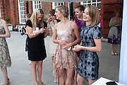 RUTH BRILL; NANCY OSBALDESTON, English National Ballet Summer party.  All proceeds from the Summer Party go towards English National Ballet. The Orangerie. Kensington Palace. London. 29 June 2011. <br /> <br />  , -DO NOT ARCHIVE-© Copyright Photograph by Dafydd Jones. 248 Clapham Rd. London SW9 0PZ. Tel 0207 820 0771. www.dafjones.com.