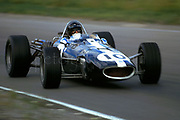 Dan Gurney in his F1 Eagle with Gurney-Weslake V12 at the 1967 Canadian GP at Mosport; PHOTO BY Pete Lyons 1967 / www.petelyons.com